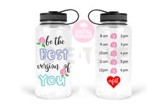 Be the best version of you svg   Water Tracker svg Product Image 1