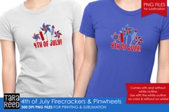 4th of July pinwheels - US Patriotic Sublimation files Product Image 2