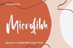 Web Font Microfilm - Beauty Handwritten Font Product Image 1