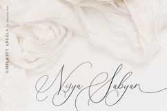 Simplicity Angela - Calligraphy Font Product Image 10