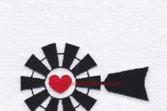 Red Heart Top Windmill Machine Embroidery File Product Image 6
