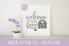 Welcome To The Farm - SVG, DXF & PNG Product Image 1