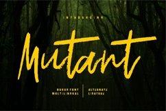 Web Font Mutant - Brush Font Product Image 1