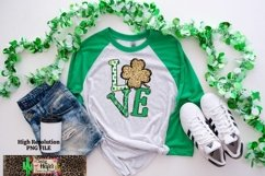 LOVE St Patrick's Day Dye Sublimation PNG Design Product Image 5