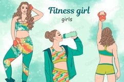 Fitness Girl GIRLS Afro Girls Fashion Doll Gym Wear - PNG Product Image 1