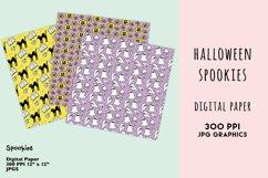 Halloween Digital Paper Set, Spookies Pastel Halloween paper Product Image 4