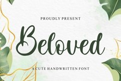 Beloved - A Cute Handwritten Font Product Image 1