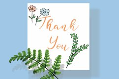 Meadow Ferns & Wild Flowers | Color Hand Drawn Leaves, Plant Product Image 6