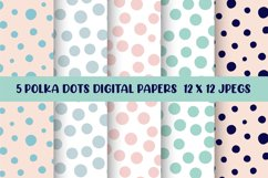 Polka Dots Digital Papers, Seamless Patterns Product Image 1