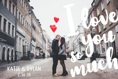 VALENTINE KISSES Valentines Day Font Duo Product Image 5