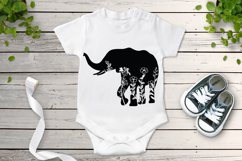 Floral Elephant SVG Cut Files. Floral Elephant Clipart. Product Image 3