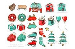 Winter Clipart, Cute Penguins, Winter Graphics, Let it Snow Product Image 3