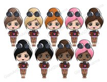 Travel CUTE DOLLS Adventure Vacation Wanderlust Clipart PNG Product Image 4