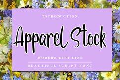 Apparel Stock - Modern Handwritten Font Product Image 1