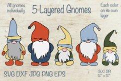 Gnome SVG. Layered SVG. Layered Papercut Product Image 1