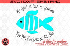 Whimsical Fish Design - Longfellow Secrets of the Sea | SVG Product Image 2