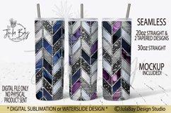 Tangram Skinny Tumbler Bundle Chevron Sublimation Design PNG Product Image 4