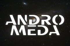Galaxy - Unique Futuristic Font Product Image 3