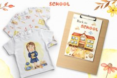 SCHOOL. Watercolor collection. Clipart, cards, patterns Product Image 5