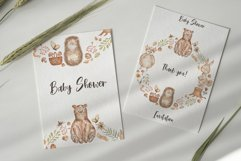 Watercolor Woodland Animals Wreath Product Image 3