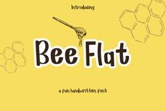 Bee Flat - a handwritten font Product Image 1