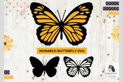 Monarch Butterfly SVG Stacked Butterfly Svg,3D Product Image 1