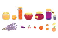 Jam & fruits clipart pack Product Image 2