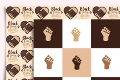 Black Lives Matter Digital Paper Seamless Product Image 4