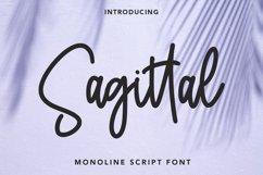Sagittal - Monoline Script Font Product Image 1