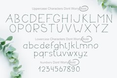 Dont Worry Hand Drawn Font Product Image 2
