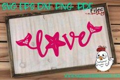 Love Word--Mermaid Theme SVG Product Image 2