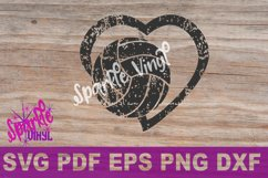 svg grunge distressed gift for volleyball heart svg dxf eps Product Image 3