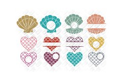 Mermaid SVG Bundle Quotes Sayings Monogram in SVG/DXF/PNG/JP Product Image 3