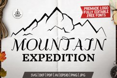 Mountain Expedition Logo Template, Retro Camp SVG File Product Image 1
