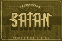 Satan - Modern Tattoo Font  Product Image 1