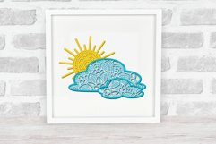 3d SVG Layered Sun and Clouds | Sunshine SVG Product Image 5