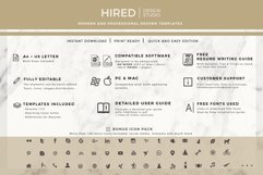 Professional Resume Template Bundle, Cover Letter, Reference Product Image 13
