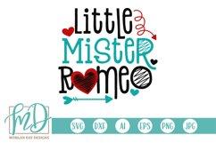 Boys Valentine - Little Mister Romeo - Valentines Day SVG Product Image 2