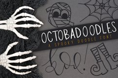 OctobaDoodles - A Halloween Doodle Font Product Image 1