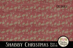 Christmas Scrapbook Papers - Shabby Christmas Backgrounds Product Image 2
