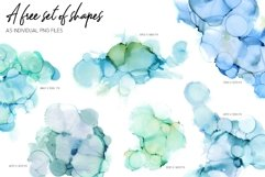7 Huge Seamless Green Alcohol Ink Textures Product Image 3