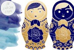 Russian Matryoshka Doll Clipart Product Image 2