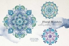 Nautical Floral & Mandala Watercolor Product Image 6