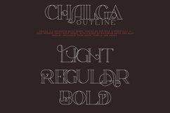 Chalga Outline - Serif Typeface Product Image 4