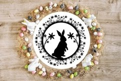 Spring Flower Easter Bunnies svg cut file Product Image 6