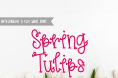 Spring Tulips Font - A Fun Hand Lettered Serif Font Product Image 1