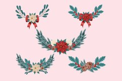 Christmas Flower Clip Art Product Image 5