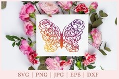 Floral Butterfly SVG, Butterfly and Flowers SVG, wildflower Product Image 1