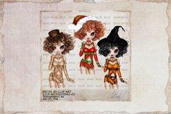 Michi 40 Christmas, Santa, Steampunk, Halloween Clip Art Product Image 1