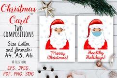 Christmas Card. Quarantine Christmas Card design SVG, PNG Product Image 1